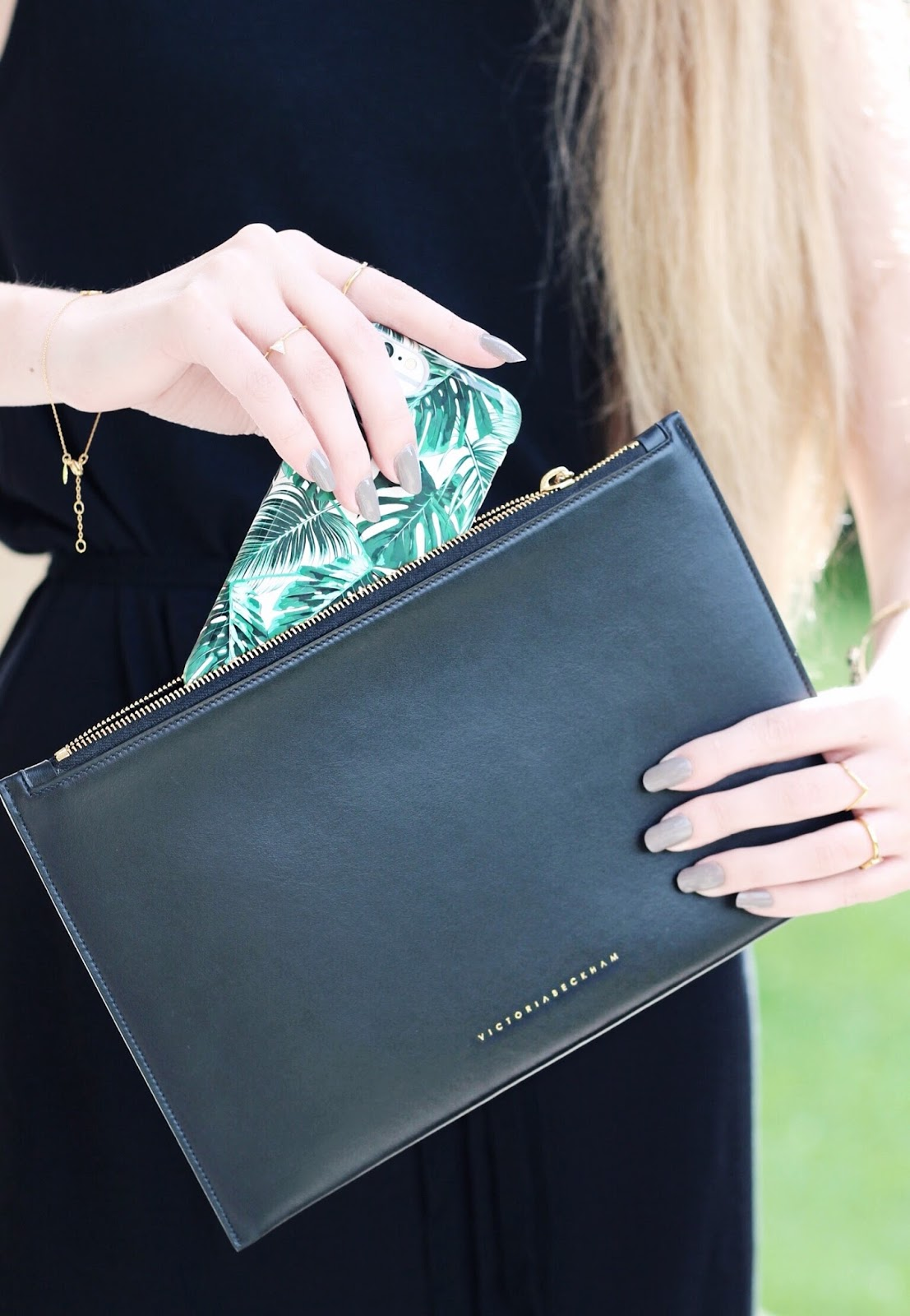 Victoria Beckham Black Clutch Farfetch Blog Collaboration