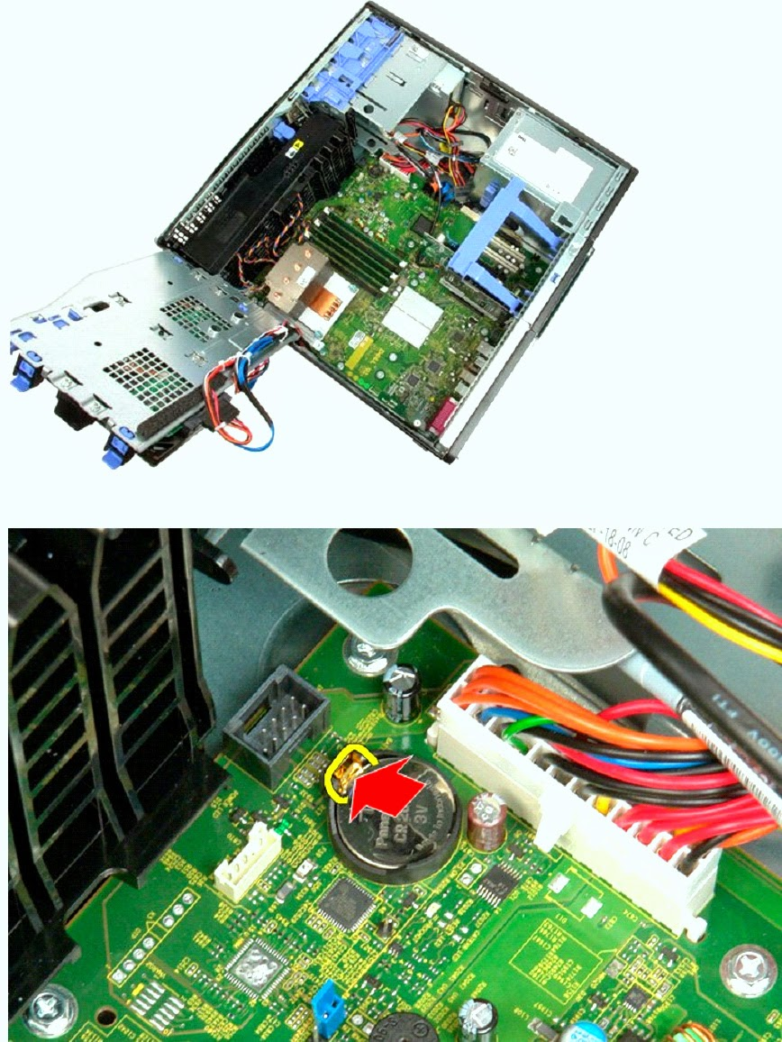 Remove the coin-cell battery from the computer.