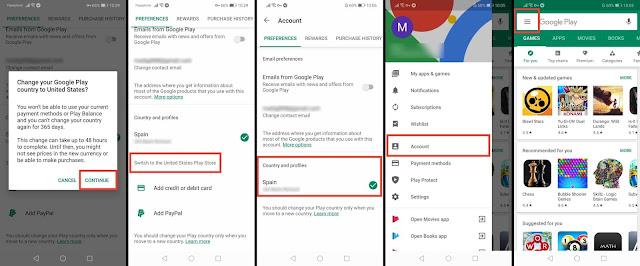 طريقة تغيير البلد على متجر جوجل بلاي