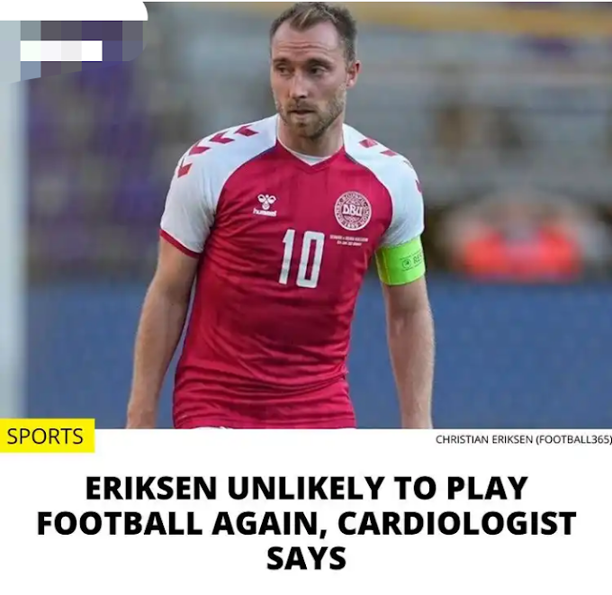 [Sport News] Christain Erikson unlikly to play football again.