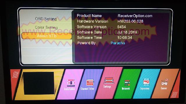 GX6605S HW203.00.028 TEN SPORTS & CCCAM OK NEW SOFTWARE WITH BEAUTIFUL MENU