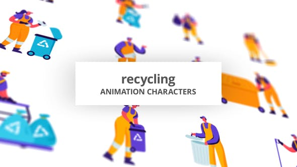 Videohive - Recycling - Character Set 28672498