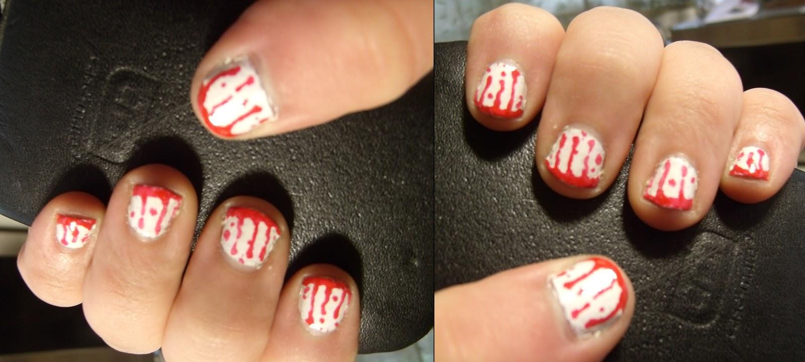 Lipstick Zombie: Halloween Nails: Blood drip