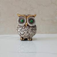 Owl Showpieces Statue Decorative Items for Home Decor Office Desk Living Room Shelf Decoration