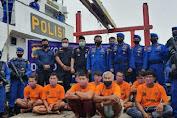 Ditpolairud Polda Sumut Tangkap 2 Kapal Nelayan Asing Pencuri Ikan