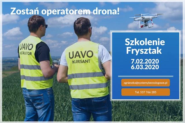 Trwają zapisy na szkolenie OPERATOR DRONA we Frysztaku