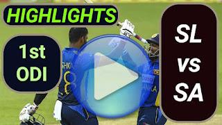 SL vs SA 1st ODI 2021