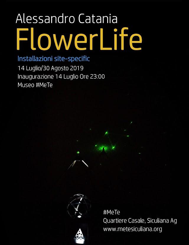 FlowerLife di Alessandro Catania: il 14 Luglio al #MeTe si inaugurano 4 installazioni site-specific
