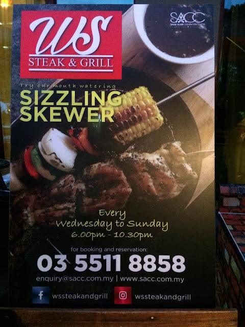 westside bistro, steak and grill, sacc, makanan sedap shah alam, shah alam
