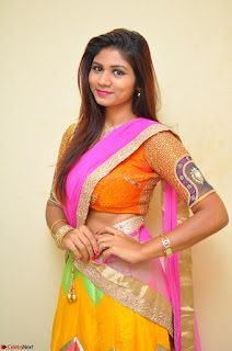Lucky Sree in dasling Pink Saree and Orange Choli DSC 0378 1600x1063.JPG
