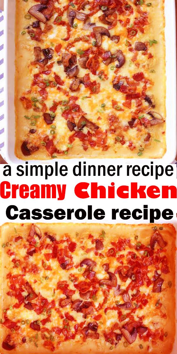 Creamy Chicken Casserole #Creamy #Chicken #Casserole ##chicken #creamychicken #chickencasserole #creamycassserole #casserole #chickendinner #easydinner #dinner #recipe