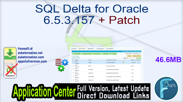 SQL Delta for Oracle 6.5.3.157 + Patch