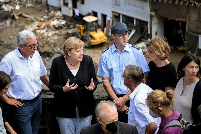 """""""Enchentes são aterrorizantes"""", diz Merkel. Mortes chegam a 188"""
