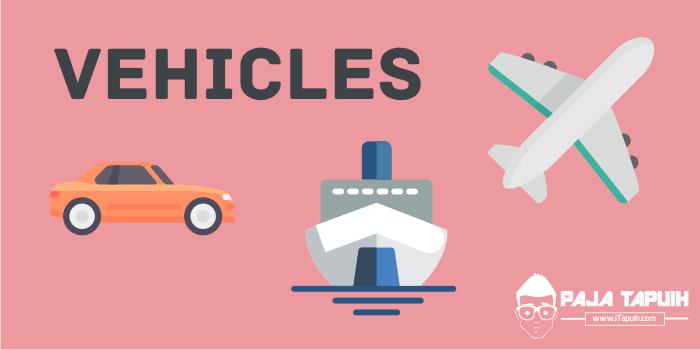 Vocabulary : Vehicles