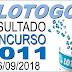 Resultado da Lotogol concurso 1011 (06/09/2018)