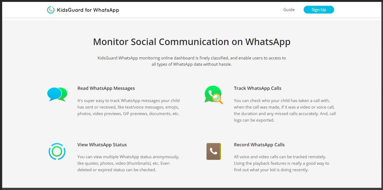 fitur lengkap kidsguard for whatsapp