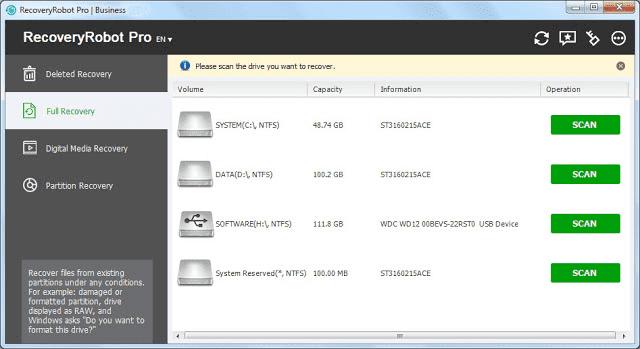 Screenshot RecoveryRobot Pro 1.3.3 Full Version