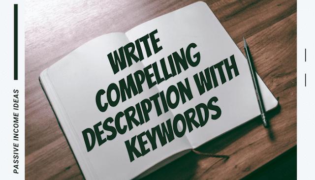 Amazon Self Publishing Book Description Writing