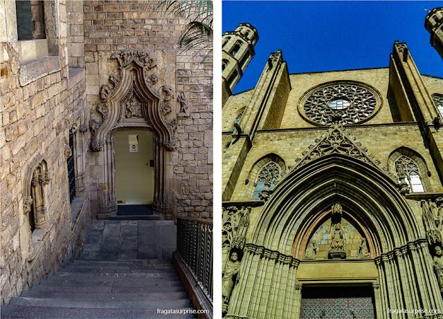 Museu Picasso  e a Basílica de Santa Maria del Mar, atrações do Born, Barcelona