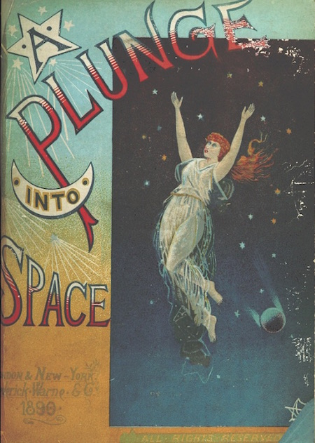 Book cover: A Plunge into Space, 1890