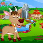 Play Games4King Cute Antelope …
