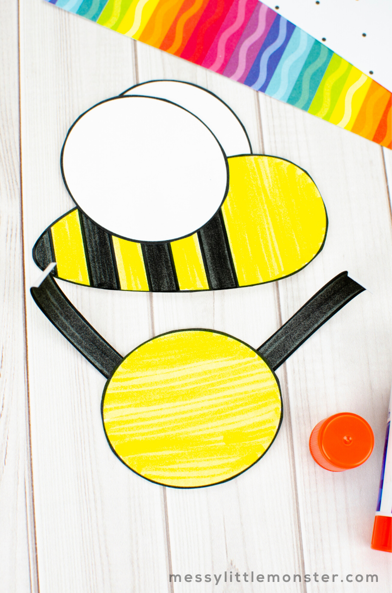 bee craft insect template