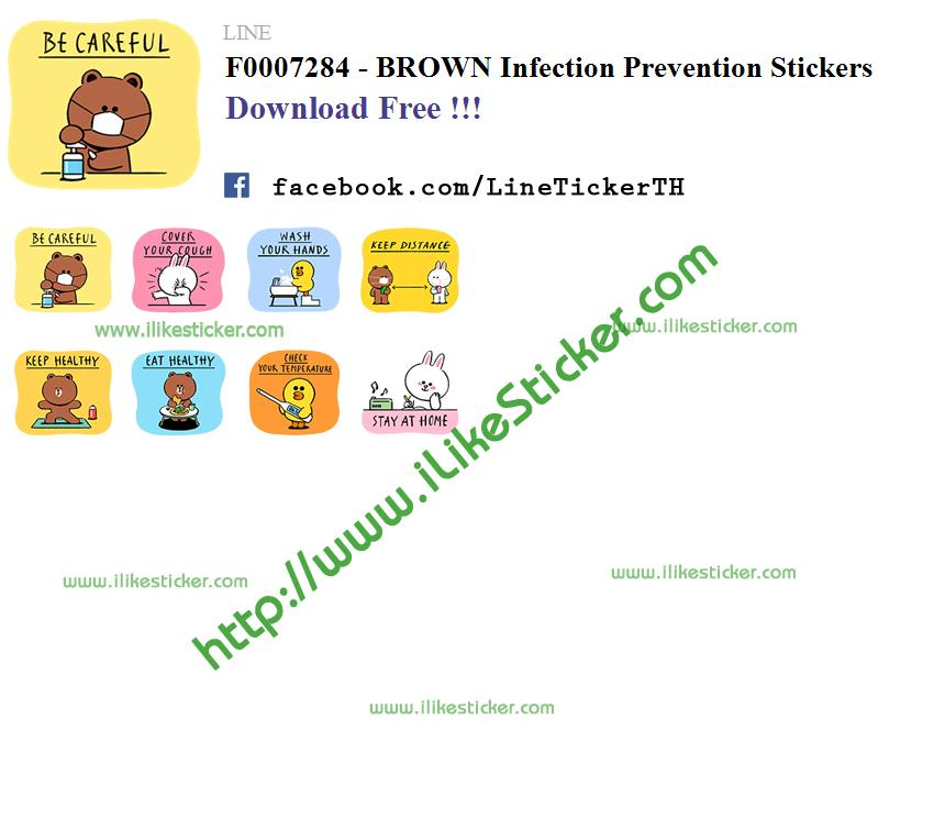 BROWN Infection Prevention Stickers