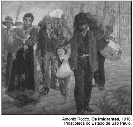 Antonio Rocco. Os imigrantes, 1910, Pinacoteca do Estado de São Paulo.
