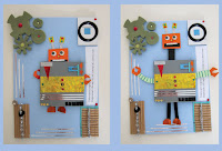 Robot pop up card