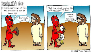 Temptation of Christ cartoon by Tony McGurk