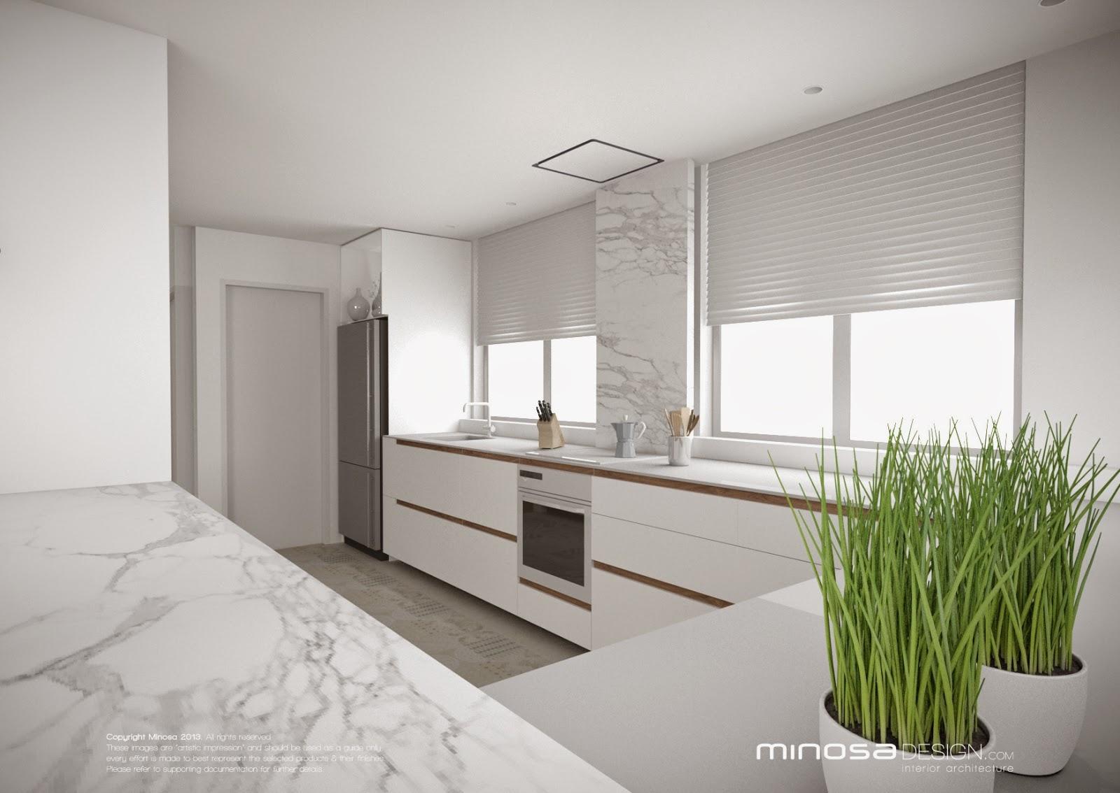 minosa kitchen design modern white clean simple lines function design blum marble slick clean design 2014 04