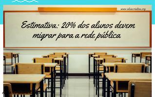 ESTIMATIVA: 20% dos alunos devem migrar para escolas públicas
