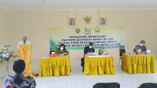 Foto : Datu Rahdin Jayawangsa, SH.,MH, memberikan presentasi singkat tentang program kerja PMKM Prima Indonesia
