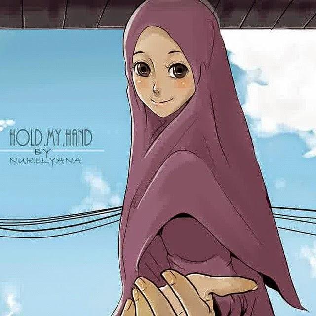 DP BBM Gambar Muslimah Berhijab Syari