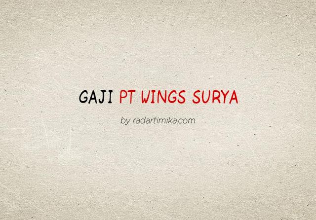 Gaji Karyawan PT Wings Surya