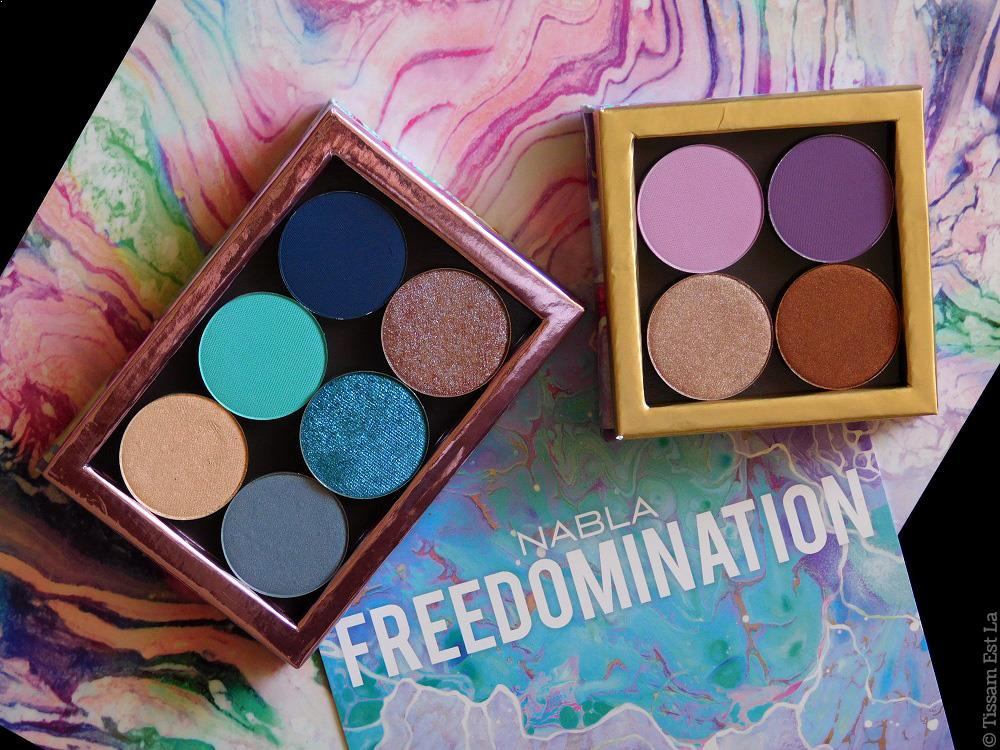 Nabla Cosmetics - Freedomination Collection Summer 2017 Eyeshadows Refills Review & Swatches - Avis et Swatch - Obsexed Habana Happytude Monoï - Antimatter Fetish Mauve - Dazzle Liner Purity Crystal - Modern Matte Diva Crime Perfect Day Goa Bohème Reverse