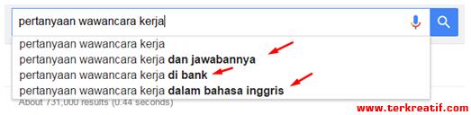 riset kata kunci di google