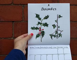 Alice Draws The Line 2018 Wall Calendar December close up