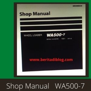 Wheel loader wa500-7 shop manual komatsu
