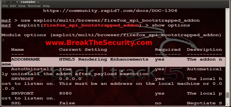 Hacking Windows 7 & Xp with Fake Firefox add-on (XPI