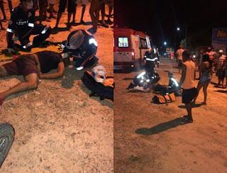 Popular fica gravemente ferido após acidente de Moto na BR 230 no interior da PB