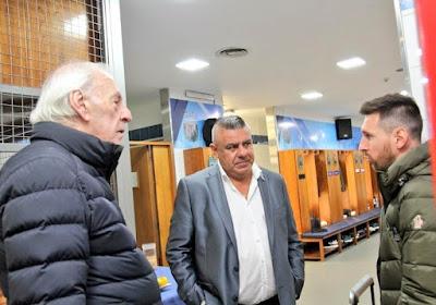 Messi llego a argentina para la Copa America Brasil 2019 Menotti y chiqui tapia