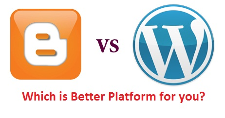 pilih blogger atau wordpress