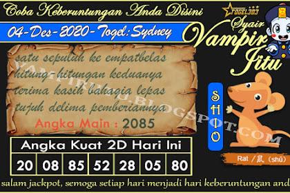 Syair Vampir Jitu Togel Sydney Jumat 04 Desember 2020