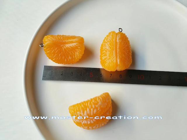 mini orange keychain pendant