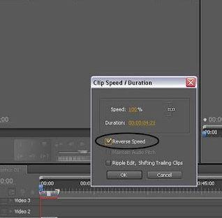 Membuat video berjalan mundur atau terbalik di komputer