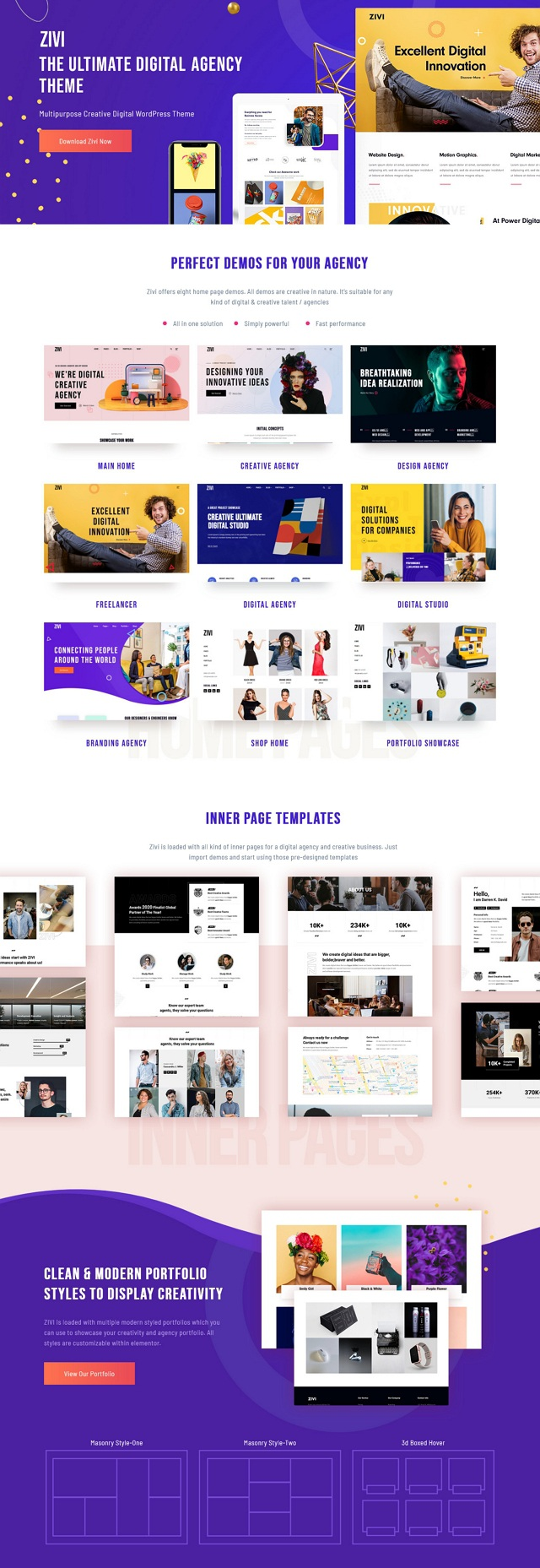Contemporary Creative Agency WordPress Theme
