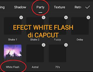 Efek white flash capcut