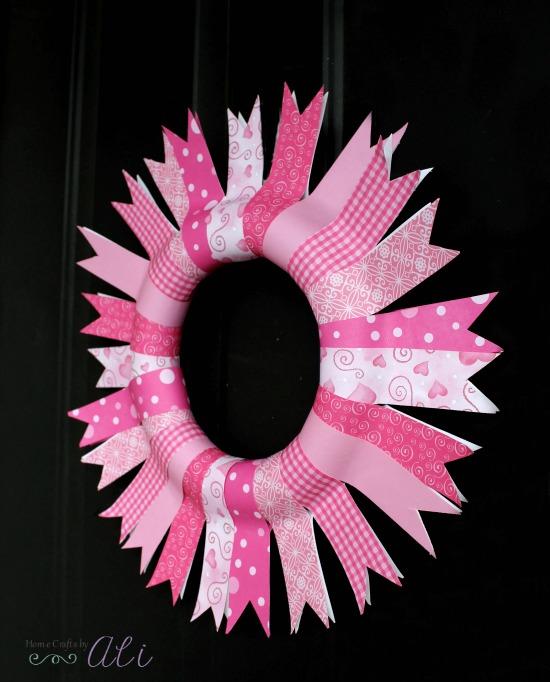 Valentine Door Decor Hanging Paper Wreath