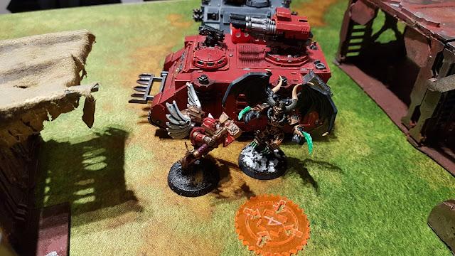 Warhammer 40k battle report - Black Legions vs Blood Angels - Maelstrom of War - 1250pts